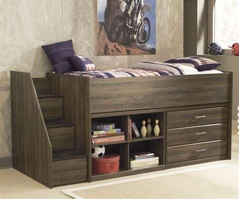 Dresser Bed by B251 Juararo Loft Bed With Stairs Dresser And Bookcase