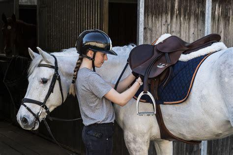 girth saddle horse grey rider outside girths saddles learn