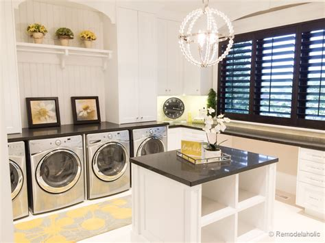 Kitchen Design With Island Layout - remodelaholic laundry rooms
