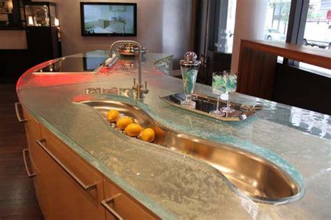 glass top kitchen island 22 modern and stylish glass kitchen countertop ideas