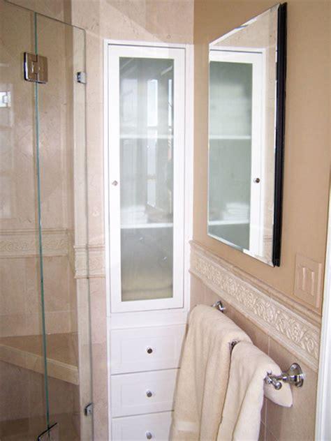 bathroom built in linen cabinet built in linen cabinet