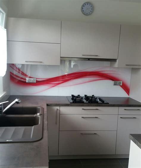 cuisine inventive crédence en verre js verre decor