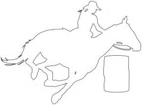 Barrel Racing Silhouette Free Vector Silhouettes