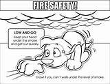 Coloring Safety Fire Low Colouring Sheets Downloadable sketch template