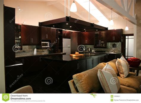 Modern African Interior Kitchen Stock Image   Image of