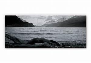 Alu Dibond Panorama : alu dibond mit silbereffekt log and lake im ~ Sanjose-hotels-ca.com Haus und Dekorationen