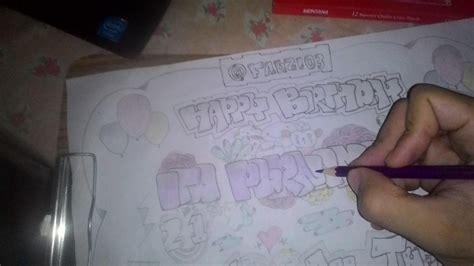 Grafiti Ultah : Graffiti Art Greetings Happy Birthday To My Friend/seni