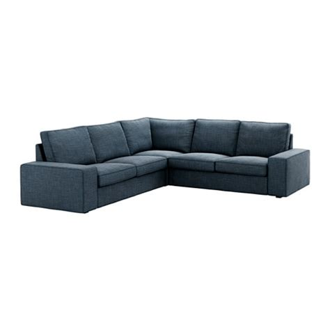 kivik sectional  seat corner hillared dark blue ikea