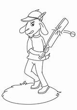 Cricket Coloring Goat Playing Colouring Pages Sport Sheet Printable Bradman Donald Toddler Books sketch template