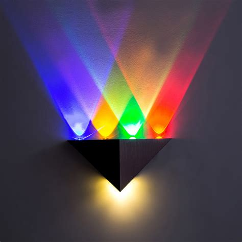 modern led wall l 3w 5wac85 265v fashion home decoration indoor triangle multi color wall
