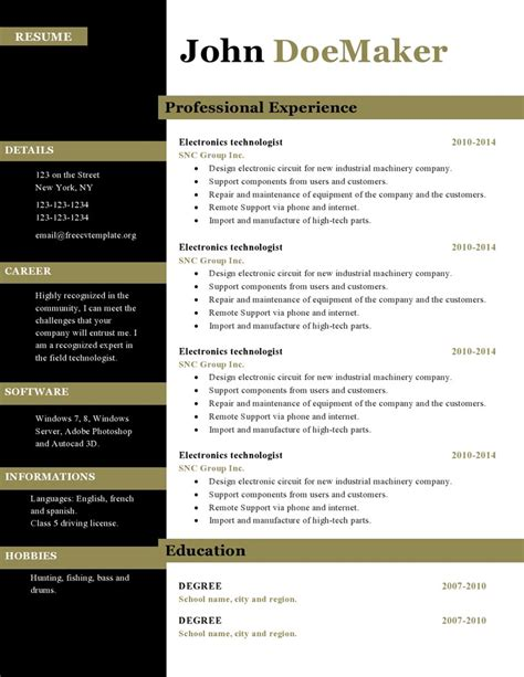 Original Resume Ideas by Curriculum Vitae Curriculum Vitae Template Original