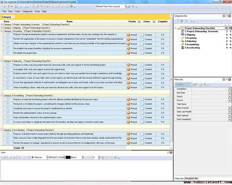 onboarding template project onboarding checklist to do list organizer checklist pim time and task management