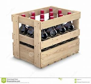 Caisse De Vin En Bois : bouteilles de vin dans une caisse en bois illustration ~ Farleysfitness.com Idées de Décoration