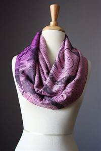 Floral Ombre Infinity Scarf / women scarves / Pink / Purple