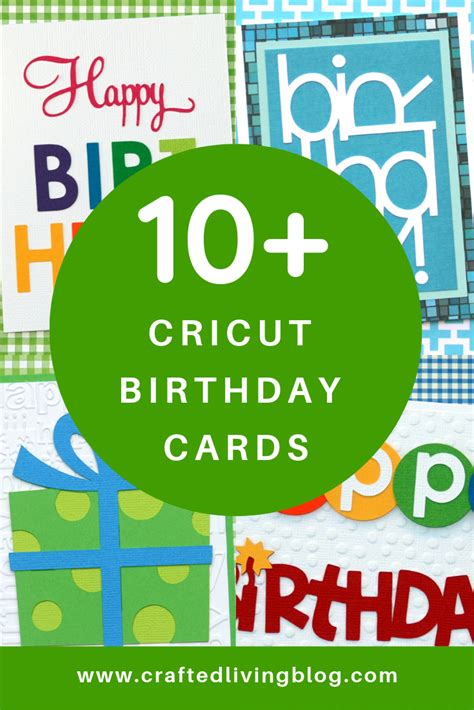 cricut birthday cards crafted living