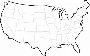 Blank States Map