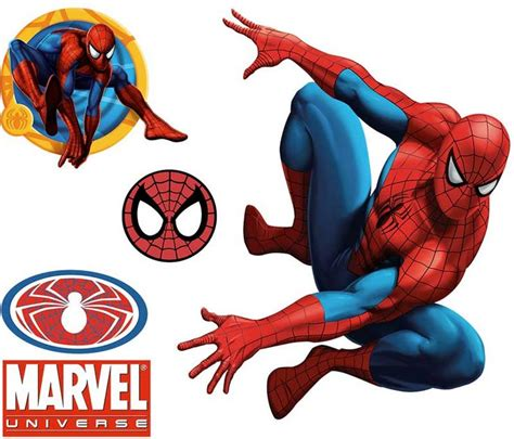 Marvel Wall Decor by Wall Accent Decals Large Stick Up 5pc Wall