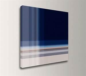 dark blue wall art square canvas print modern wall decor With blue wall art