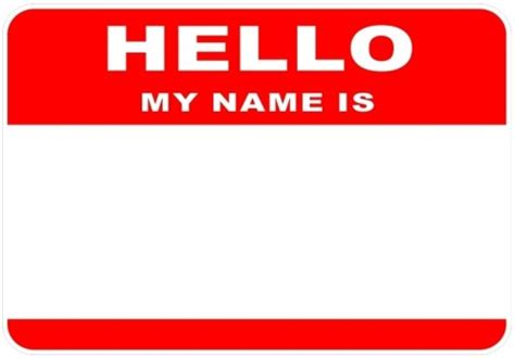 hello my name is template label label label recesstec