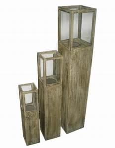 Windlicht Laterne Holz : windlicht s ule rustica holz gewachst 3er set windlichts ule braun ~ Whattoseeinmadrid.com Haus und Dekorationen