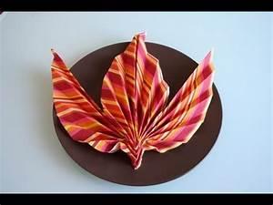 Youtube Servietten Falten : servietten falten ahornblatt napkin folding maple leaf youtube ~ Frokenaadalensverden.com Haus und Dekorationen