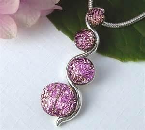 Fused Glass Jewelry Pendant