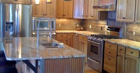 kitchen island  rustic   corrugated metal metal