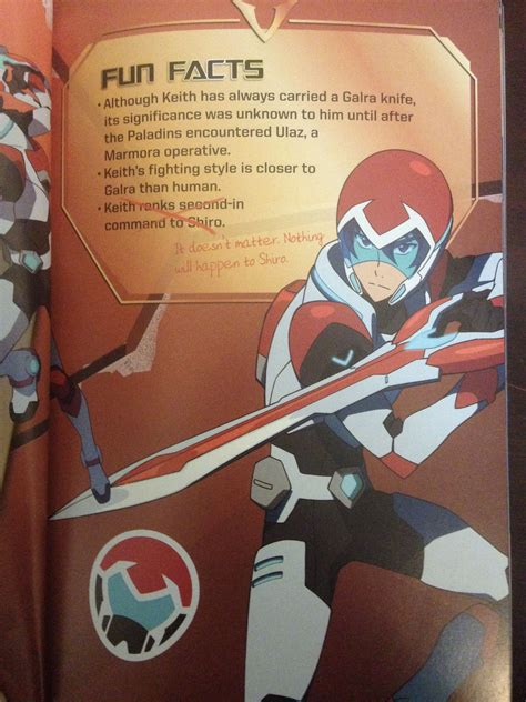 voltron shiro keith clone form well least happen cause nothing dead he
