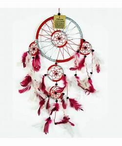Grand Attrape Reve : attrape reve rouge et blanc ~ Teatrodelosmanantiales.com Idées de Décoration