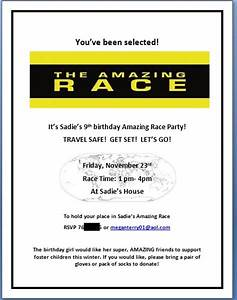 millions of miles our amazing race birthday party With amazing race birthday party templates