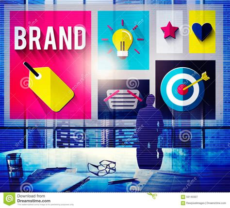 Brand Branding Marketing Ideas Creative Concept Stock