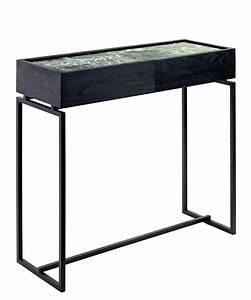 Konsole Mit Schublade : verde konsole mit 1 schublade marmor l 80 cm gr ner marmor fu gestell schwarz by serax ~ Whattoseeinmadrid.com Haus und Dekorationen
