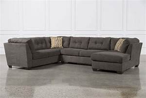 Delta City Steel 3 Piece Sectional W/Raf Chaise - Living