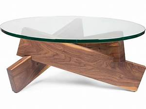 ion design plank walnut 363939 round coffee table with glass With 36 round glass coffee table