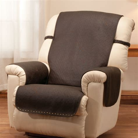 leather look recliner chair cover seat cover recliner