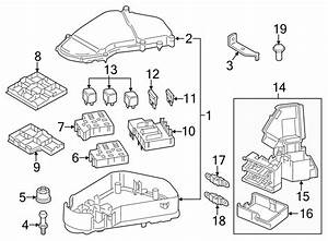 Volkswagen Touareg Relay  Plate  Fuse  Engine  Compartment  Liter