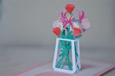 Flower Pop Up Card Templates by Flower Bouquet Pop Up Card Template