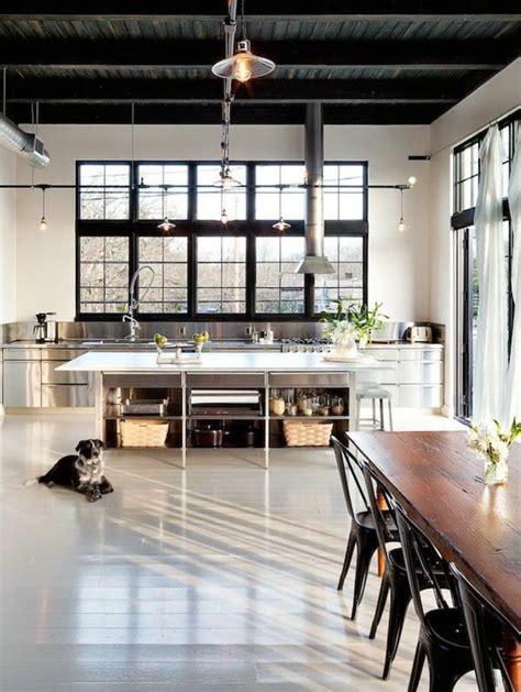 cuisine loft industriel le lustre industriel une inspiration dépareillée