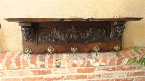 antique european wall shelves hall trees copper pot racks images  pinterest wall