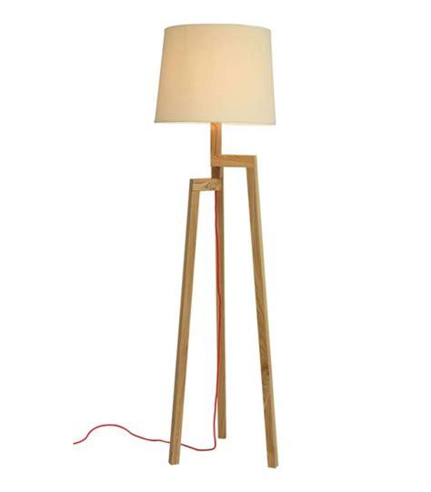ladaire design tr 233 pied en bois et abat jour beige nature wadiga