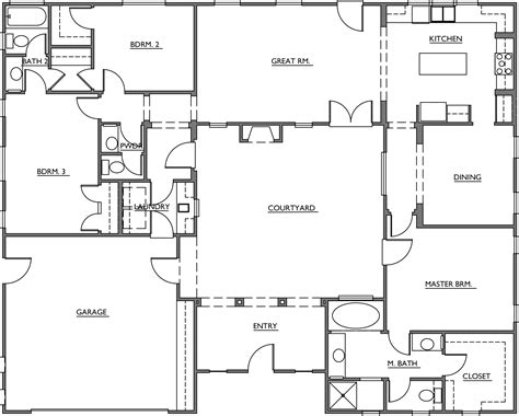floor plans with courtyards turner mesquite courtyard homes floor plans