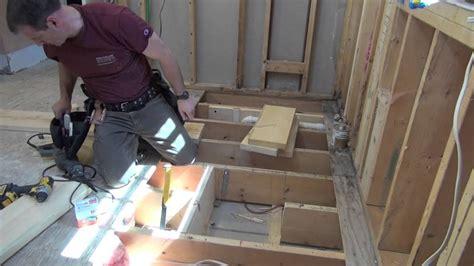vanity top without bathroom remodeling part 7 framing openings in floor