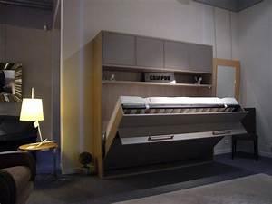Lit 2 Personnes But : lit relevable transversal 140 x 190 ~ Teatrodelosmanantiales.com Idées de Décoration