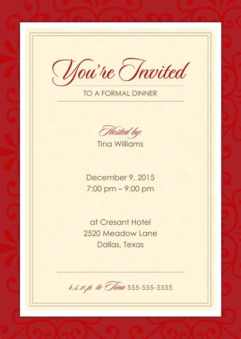 official red invitations announcements  print