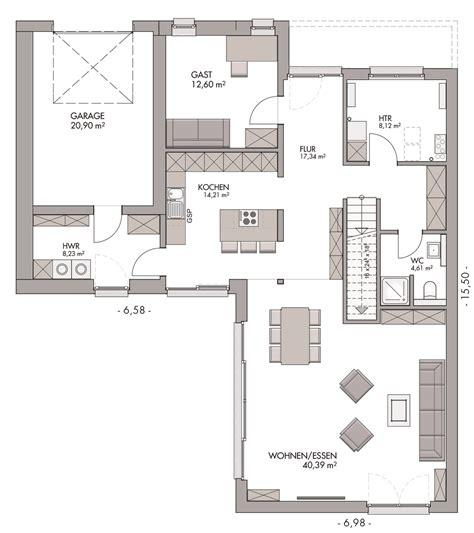 Haus Grundriss Modern by Modern Bauen In Flensburg Tarup Im Bauhausstil Mit Garage