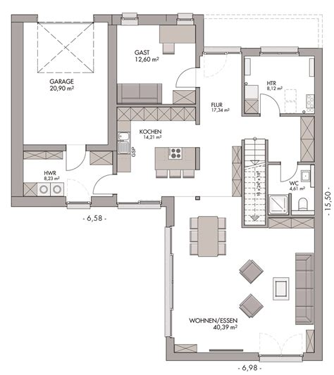 Modern Bauen In Flensburgtarup Im Bauhausstil, Mit Garage