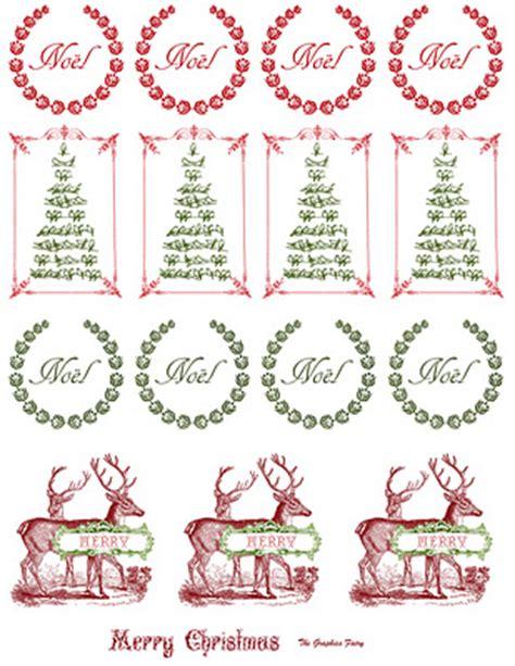 printable vintage christmas stickers  graphics fairy