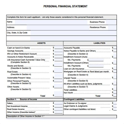 real estate financial statement template 8 financial statement sles exles templates sle templates
