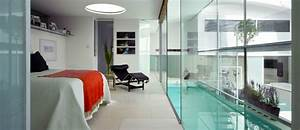 Uses for glass in interior design vintage industrial style for Interior design bedroom with pool