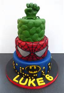 Marvel Super Hero Birthday Cake